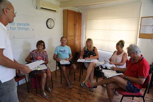 a group of our adult students in gozo