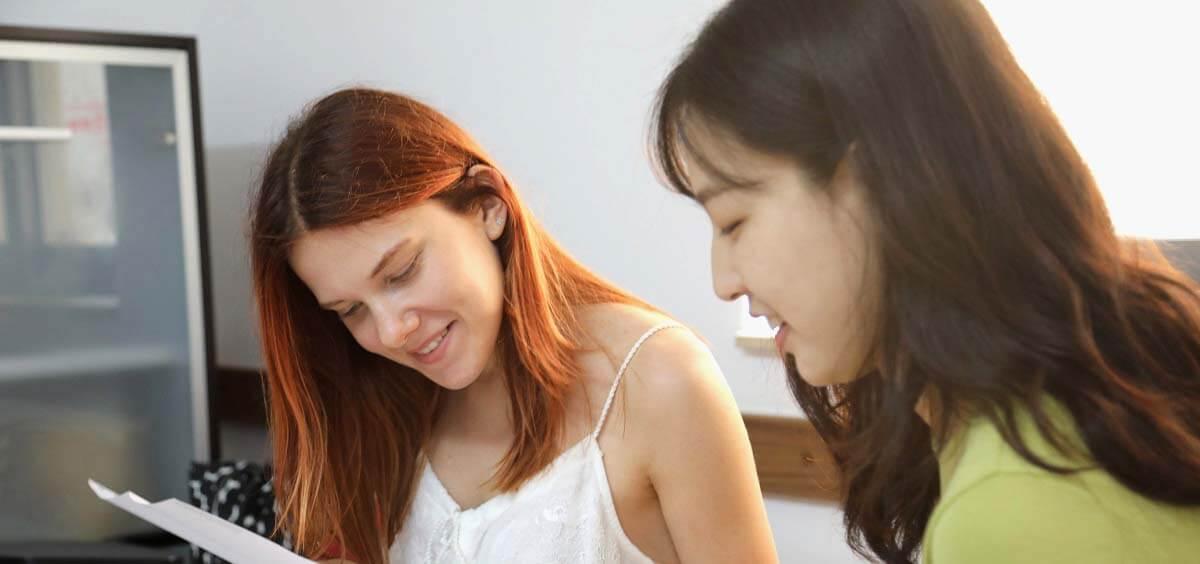 Estudantes durante cursos de preparação para certificados