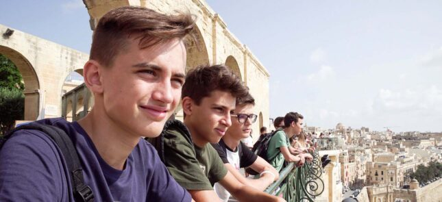 Students on a study holiday in Malta