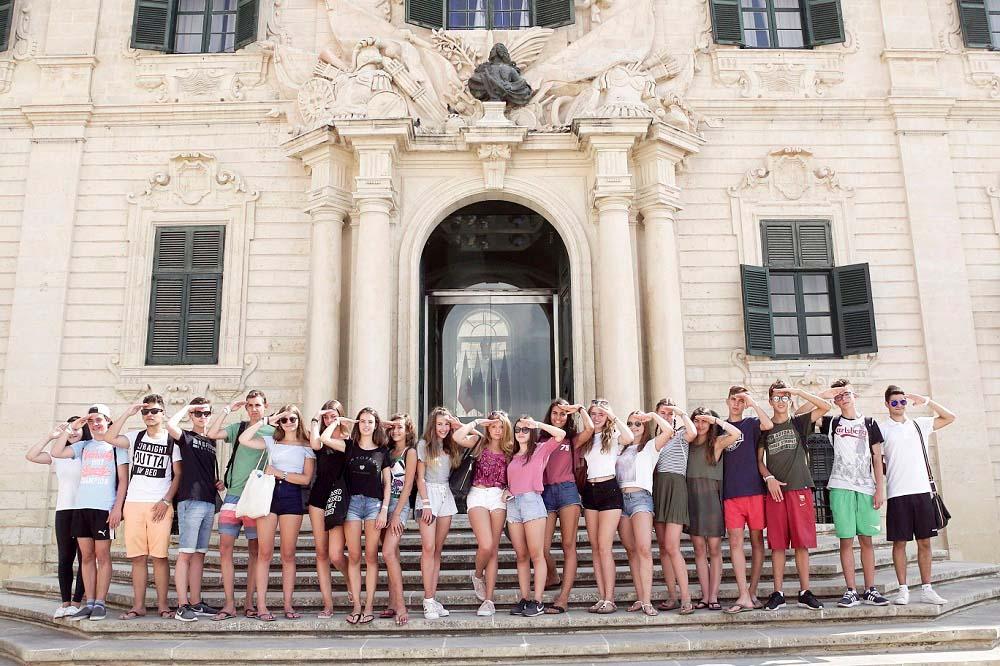 Un groupe de nos étudiants en été