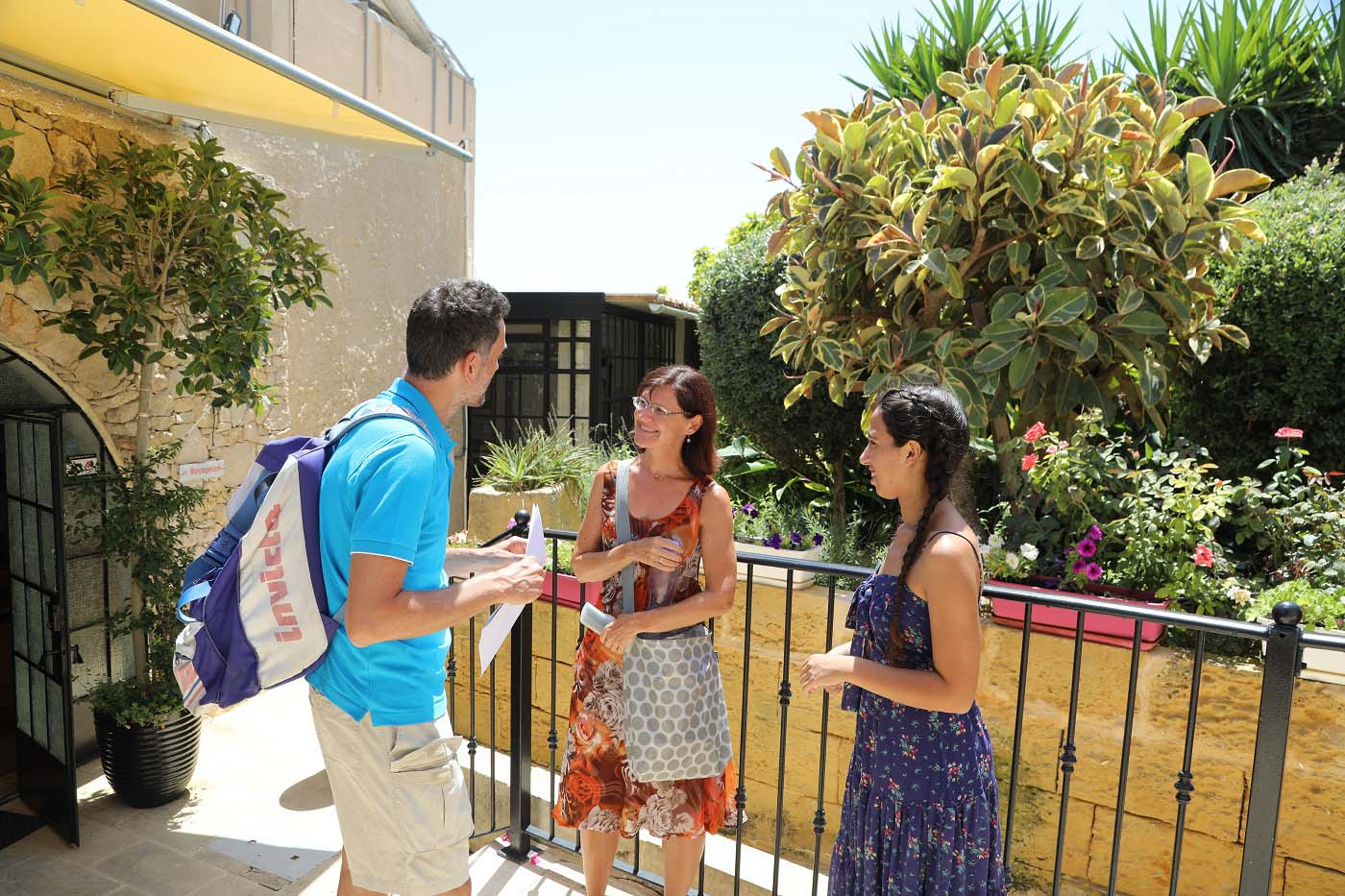 Students outside our Malta Language school