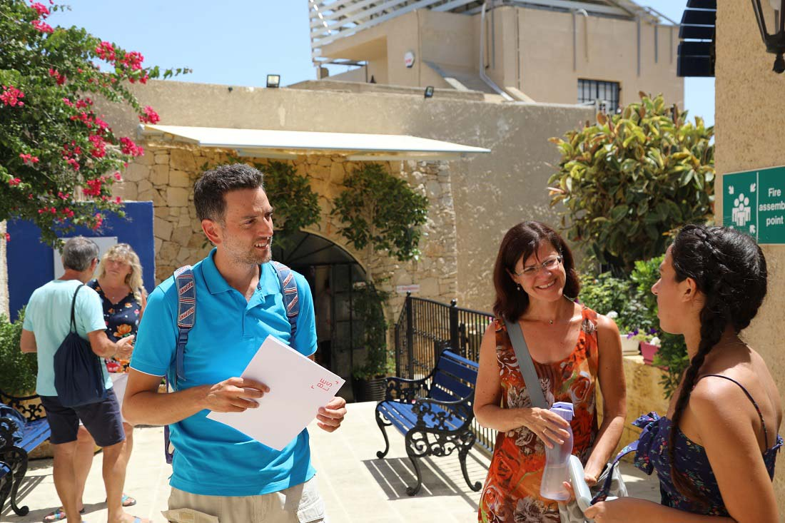 outside the school at BELS Gozo