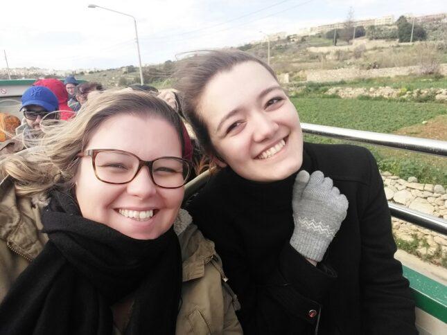 Flavia durante il suo viaggio a Malta per l'inglese