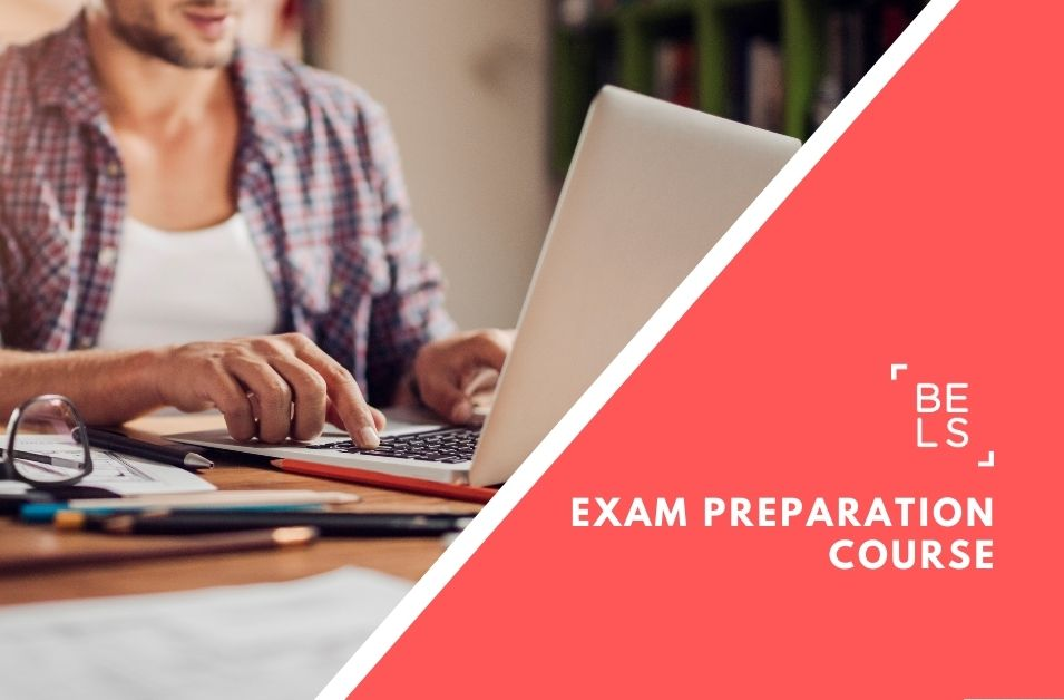 Online courses poster for exam courses