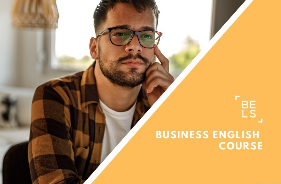 Online courses poster for business english