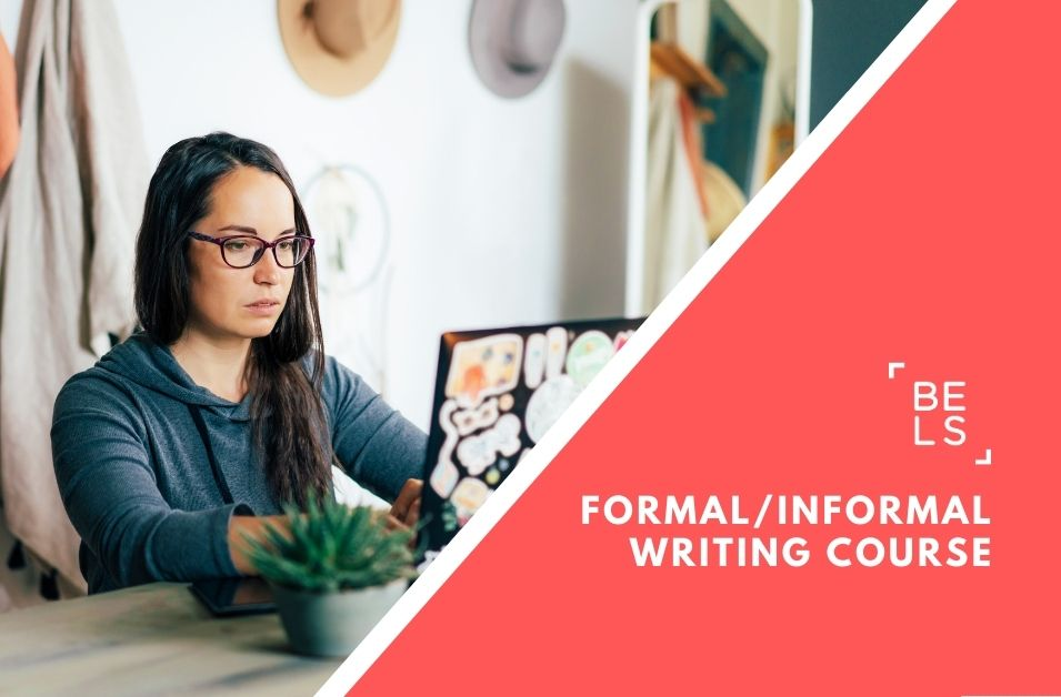 Online courses poster for writing skills