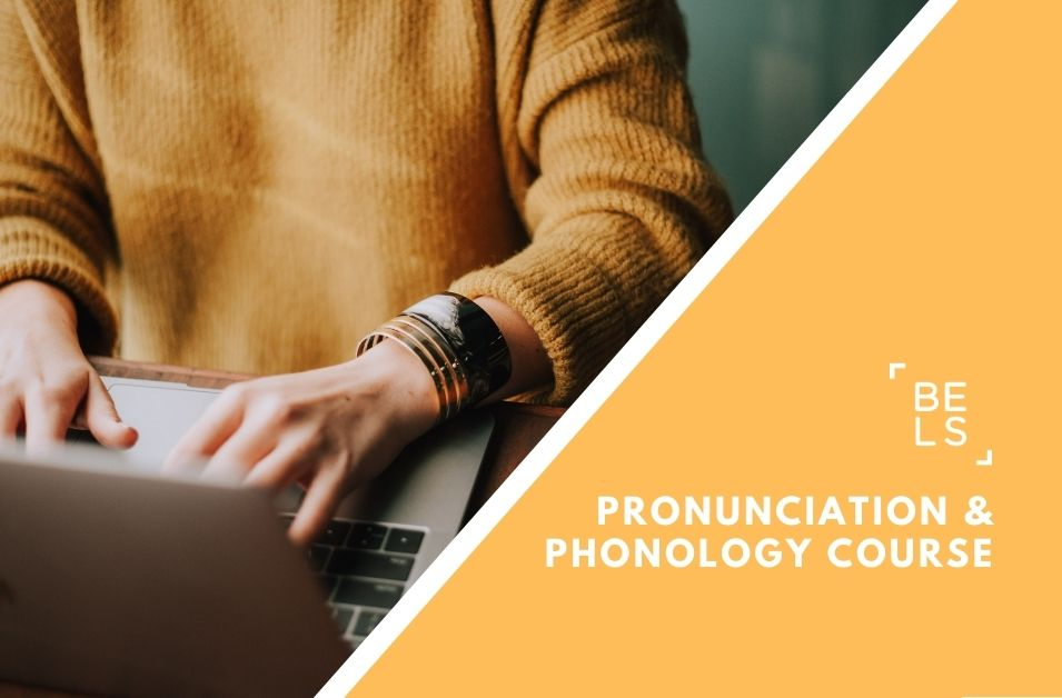 Online courses poster for pronunciation and phonology