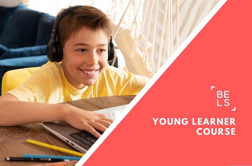 Online courses poster for young learners