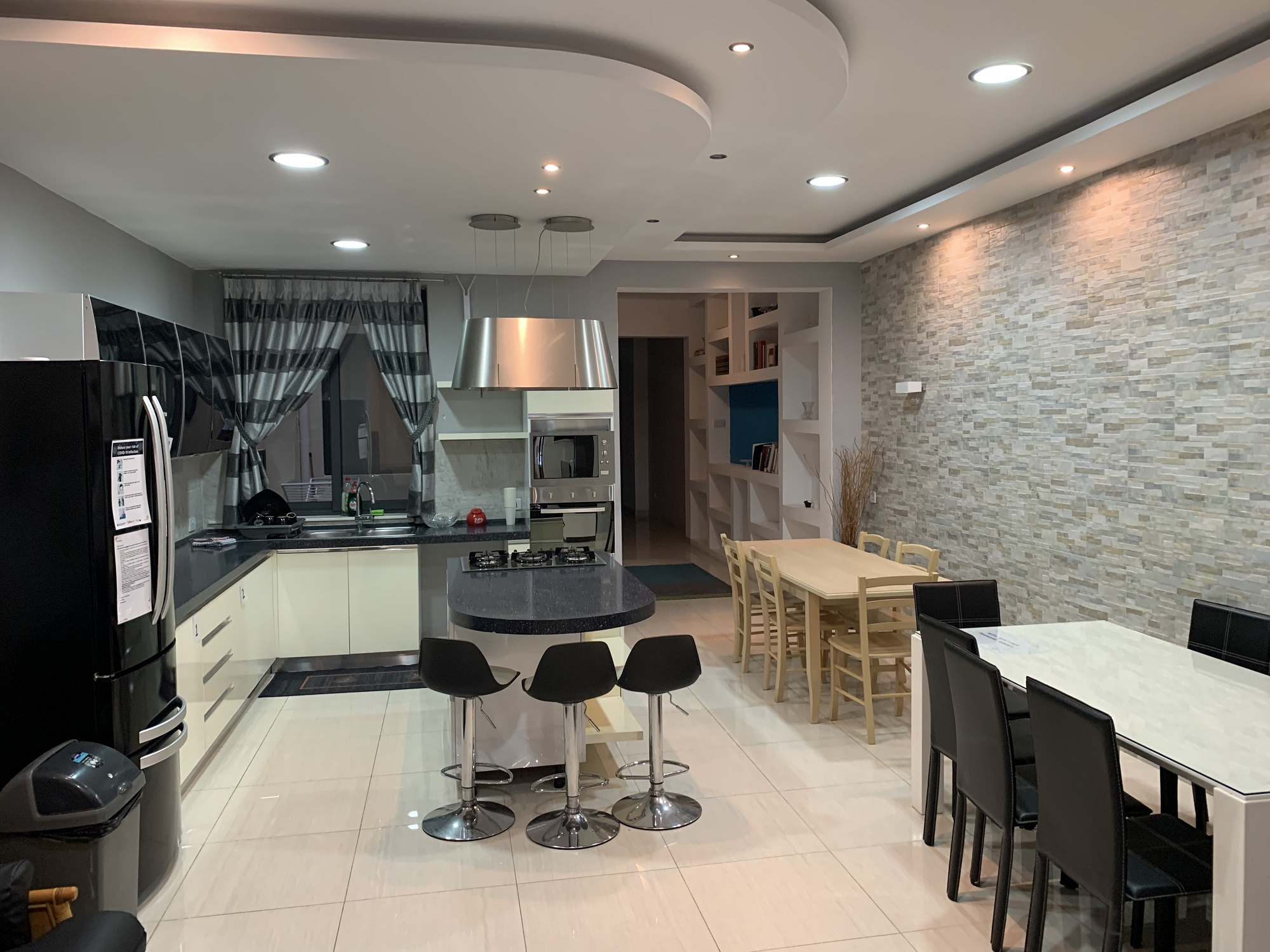 A kitchen at one of our shared student residences in BELS Gozo