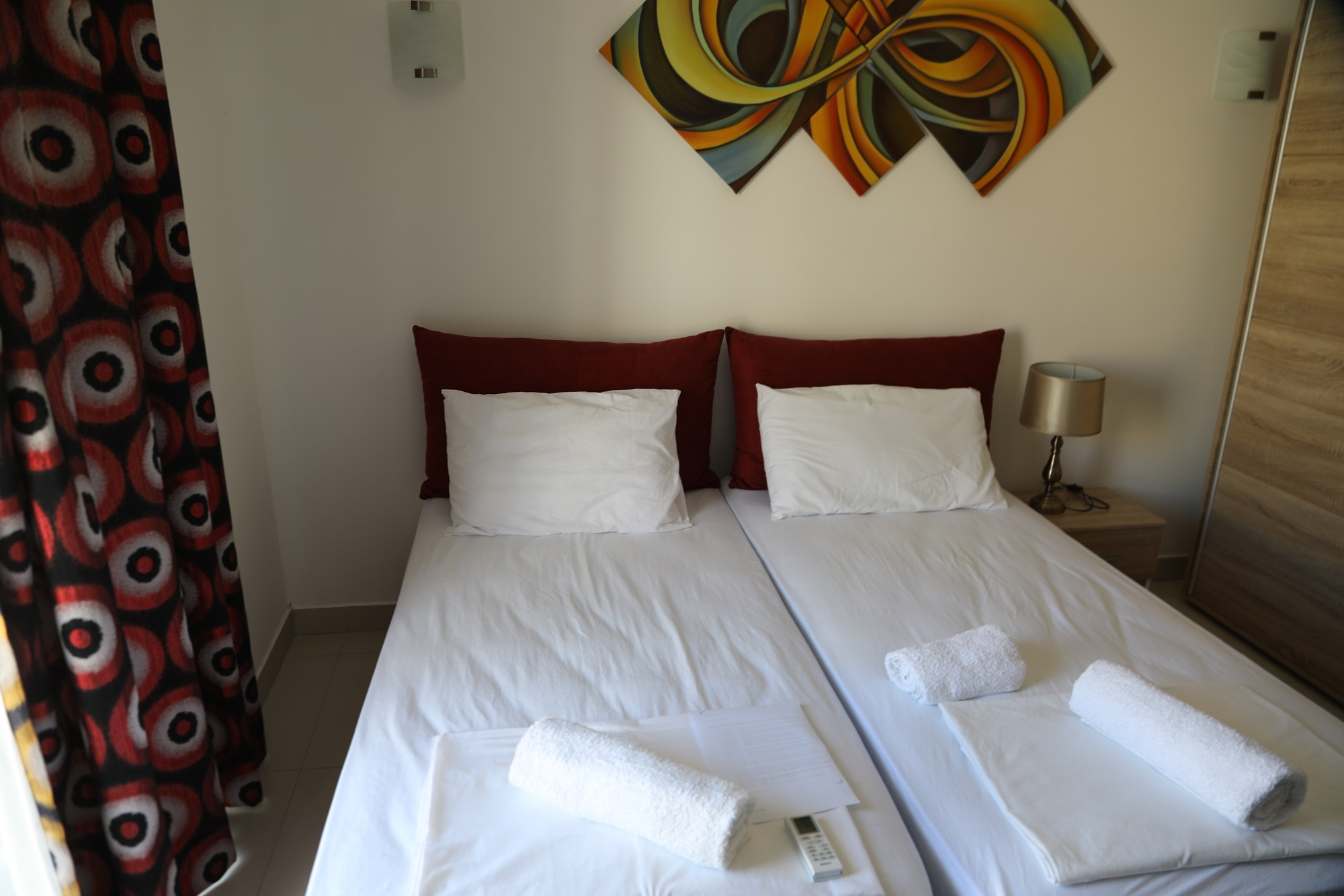 One of the bedrooms at our BELS Gozo student residence