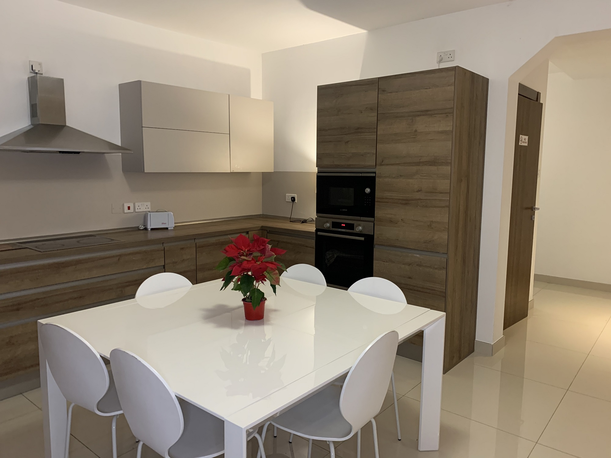 Kitchen and dining area in the student residences