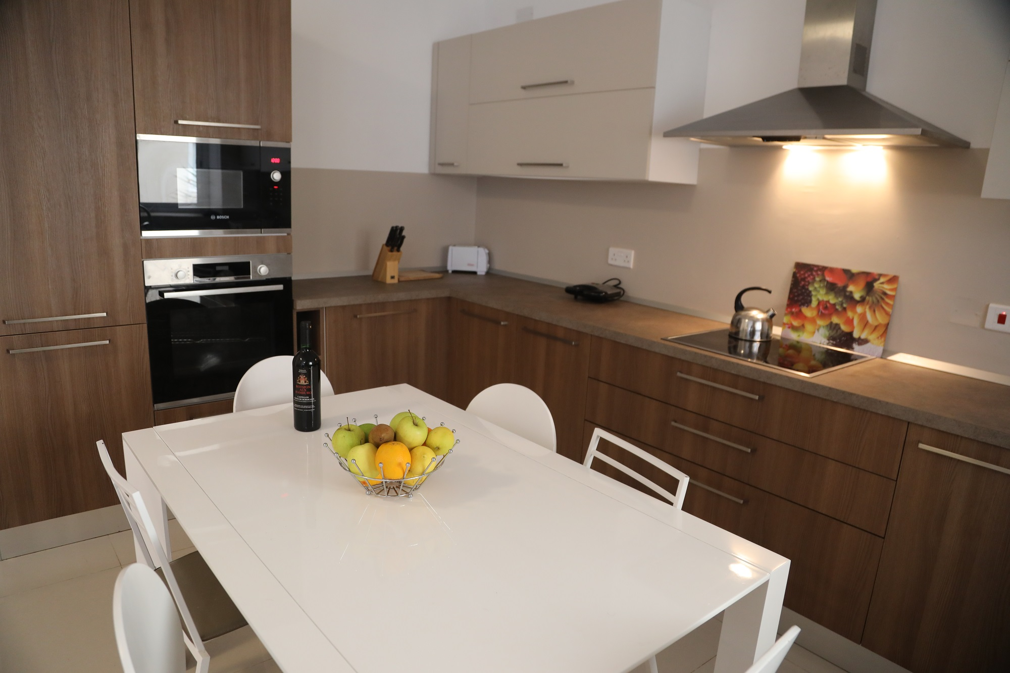 Shared kitchen at BELS Malta student residences in St Pauls Bay