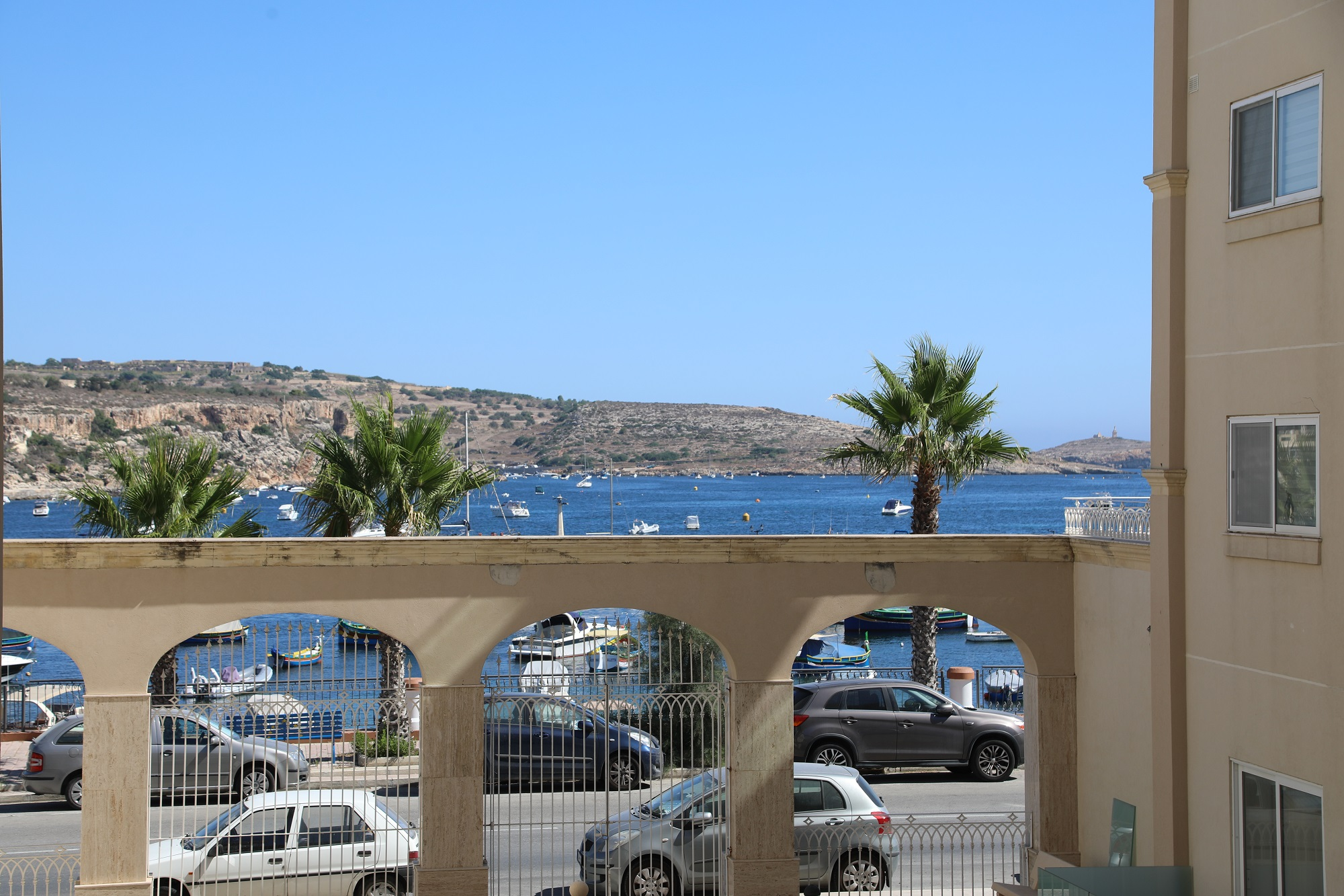 The view from the BELS superior residence in Malta