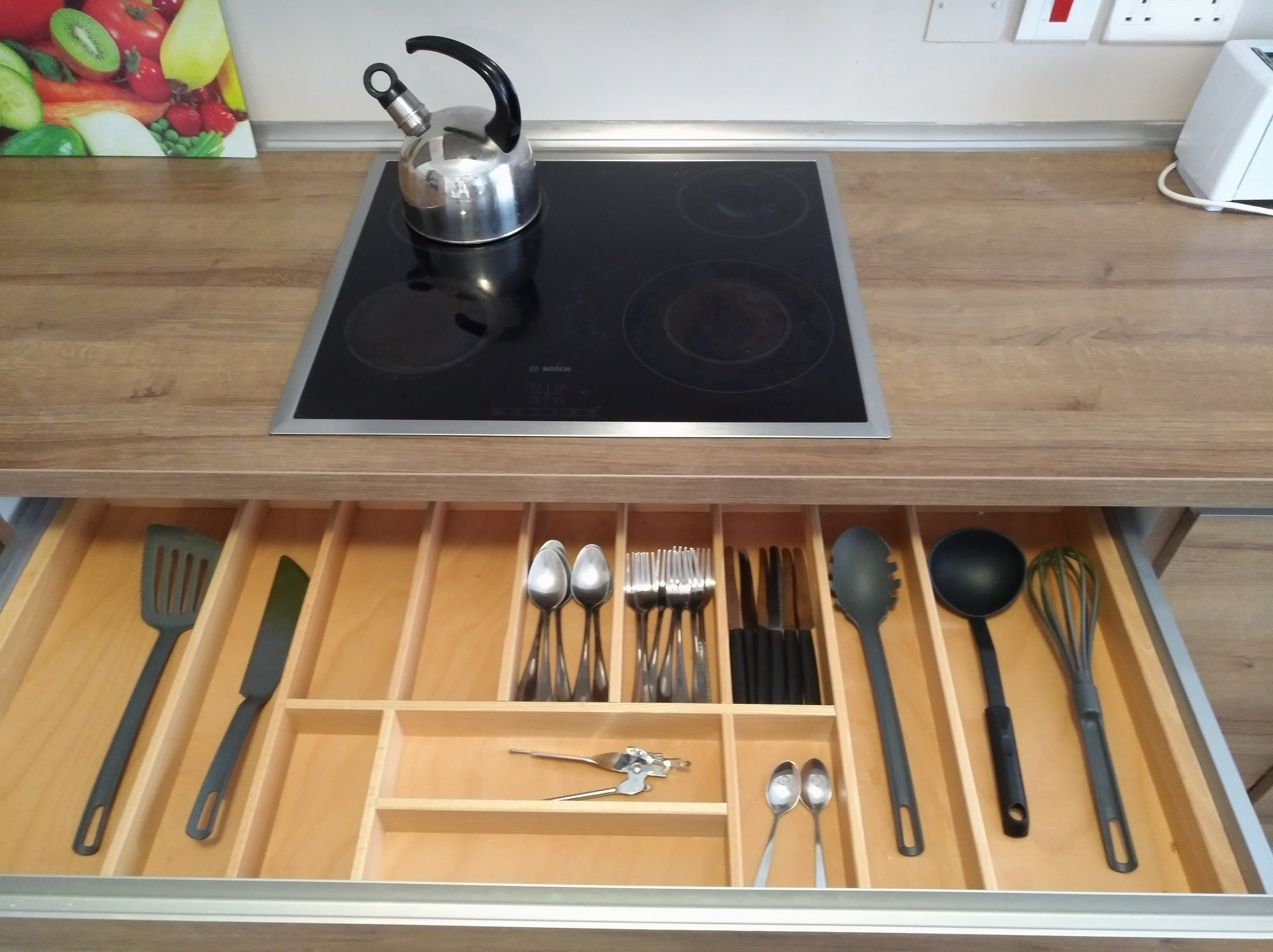 Kitchen utensils at the BELS superior student residence